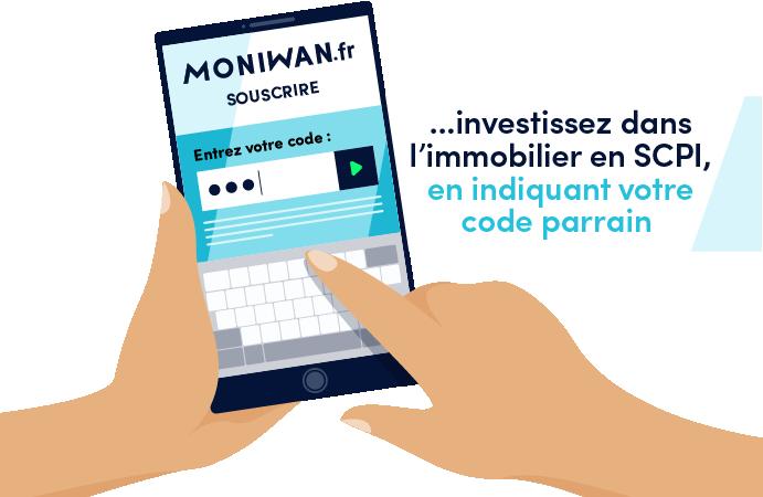 Utilisation du code parrain Moniwan